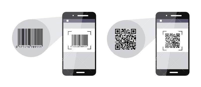 اسکن بارکد چاپ شده روی فلز بوسیله اپلیکیشن موبایل